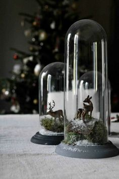 No more blue Christmas Woodland Christmas, Nordic Christmas, Magical Christmas, Christmas Mood, Blue Christmas, Amazon Christmas, Glass Bell Jar, The Bell Jar, Bell Jars