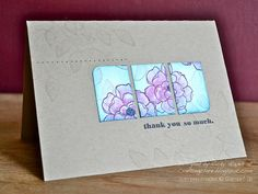 Card made with Secret Garden from Stampin Up