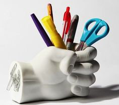 Hand #Pen #Holder – $18 / The Hand Pen Holder features a magnetic back and will help you keep your workspace free of clutter. http://thegadgetflow.com/portfolio/hand-pen-holder-18/