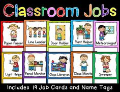 Class Jobs! Back to School