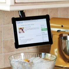 iPad wall mount for kitchen
