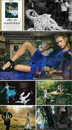 Alice in Wonderland Vogue shoot styled by Grace Coddington and shot by Annie Leibovitz