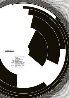 Variations of the great Josef Muller Brockmann's Beethoven