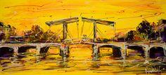Online veilinghuis Catawiki: Mathias - Canal of Amsterdam, yellow bridge