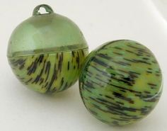 Unusual Light Spherical Green Celluloid Buttons