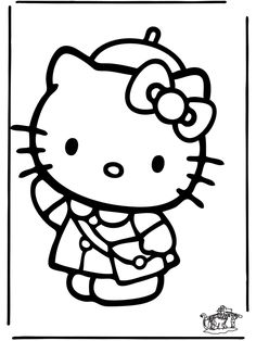Hello Kitty... this would be fun to color with Ana!
