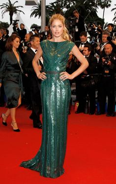 """Doutzen Kroes attends the """"Cosmopolis"""" premiere during the 65th Annual Cannes Film Festival at Palais des Festivals on May 25, 2012, in Cannes."""