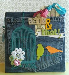 Mini-Album couverture en jean