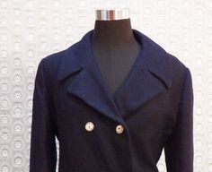 Vintage Nautical Mid Length Coat with Back Belt by ellauniverse, $65.00