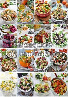 50 przepisów na letnie sałatki Halloumi, Pasta Salad, Grilling, Healthy Recipes, Ethnic Recipes, Diet, Bulgur, Salads, Crab Pasta Salad
