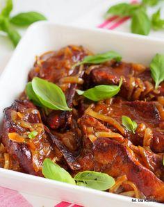 Żeberka pieczone w ketchupie | Smaczna Pyza Pork Recipes, Cooking Recipes, Polish Recipes, Polish Food, Yummy Food, Tasty, Kielbasa, Japchae, Chicken Wings