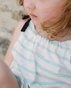 Top de rayas purpurina verde | Corazón de león KIDS moda infantil