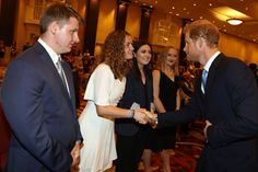Prince Harry Photos - Prince Harry greets award receipients during The Duke Edinburgh's International Gold Award Winners Ceremony on Day 2 of the Invictus Games 2017 at Fairmont Royal York on September 24, 2017 in Toronto, Canada. - Invictus Games Toronto 2017 - Day 2