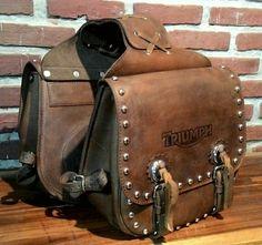 Buretos Saddle Bag for Harley Davidson, 100% finest leather and made by craftsman.