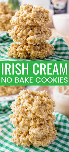 These Irish Cream No Bake Cookies are a boozy twist on the classic cookie recipe! Perfect for St. Patrick's Day! st patricks day food Irish Cream No Bake Cookies Best No Bake Cookies, Chocolate No Bake Cookies, No Bake Cookie Recipe, No Bake Christmas Cookies, Chocolate Ganache, Chocolate Chips, Irish Desserts, Irish Recipes, Easy Desserts