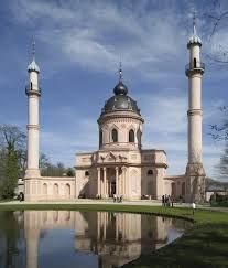 Baroque Red Mosque in the garden of Schwetzingen Palace in Germany, finished in Mosque Architecture, Religious Architecture, Art And Architecture, Beautiful Mosques, Beautiful Buildings, Temples, Architecture Religieuse, Bagdad, World Photo