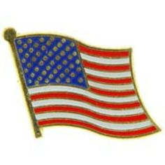 """American Flag Pin 1"""" by FindingKing. $8.50. This is a new American Flag Pin 1"""""""