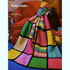 CROCHET PATTERN  Harlequin Afghan/Blanket