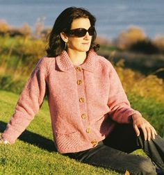 Cottage Craft Woollens--Classic Chanel Cardigan