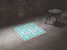 Javier De Riba Spray Paints the Floors of Derelict Buildings With Geometric, Tile-Like Patterns.