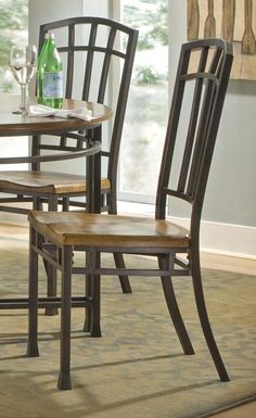 Oak Hill Dining Chair In Distressed Oak Finish   Set Of 2 Al And I Like