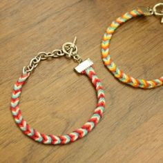 DIY - Easy to make chevron friendship bracelets updated with metal closures!
