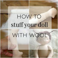 Dollmaking tips: How to stuff waldorf dolls with the rolling wool technique.