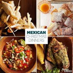 Make Christmas dinner a fiesta with delicious Mexican Christmas dinner recipes! Try our recipes for tamales, churros, and more. Each recipe is perfect for creating a traditional Mexican Christmas dinner. Mexican Christmas Food, Mexican Christmas Traditions, Christmas Dinner Menu, Christmas Party Food, Christmas Dishes, Mexico Christmas, Christmas Recipes, Christmas Treats, French Christmas