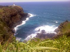 This looks like a lighthouse in Kauai,hawaii where i went this summer. I actually have this same picture that i took myself.
