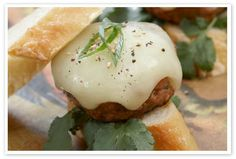 Texas Pete® Pork Slider with  Melted Truffle Flecked Gouda