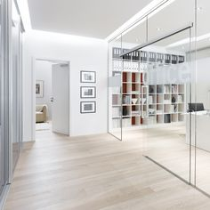 """Double Glass Door with """"steel Look"""" Frames Portapivot Double Glass Doors, Glass Barn Doors, Sliding Glass Door, Kitchen Cabinets End Panels, Automatic Sliding Doors, Glass Curtain Wall, Shower Wall Panels, Window Handles, Glass Partition"""
