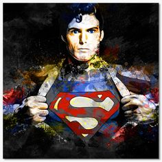 Tableau déco superman
