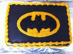 Batman cake for superhero birthday party