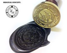 Custom Wax Seal Stamp for Family Crest and Coat of Arms Design