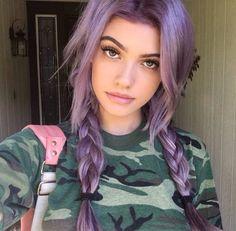 ♡ purple hair ♡
