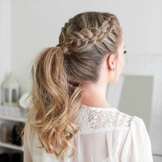 46 beautiful mother of the bride hairstyles to impress everyone # braidhairstyles . - 46 beautiful mother of the bride hairstyles to impress everyone # braidhairstyles …, - Braided Ponytail Hairstyles, Easy Hairstyles For Long Hair, Bride Hairstyles, Hairstyle Ideas, Hairstyles For Women, Cute Simple Hairstyles, Braided Hairstyles For Wedding, Hairstyles For Nurses, Cute Hairstyles With Braids