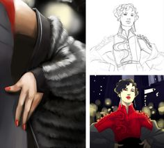 susan hill #femme #newyork #futur #robe #manteau #fourrure #ville