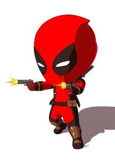 #Deadpool #Fan #Art. (CHIBI_DEADPOOL) By: AryoAnggoro. (THE * 5 * STÅR * ÅWARD * OF: * AW YEAH, IT'S MAJOR ÅWESOMENESS!!!™) ÅÅÅ+