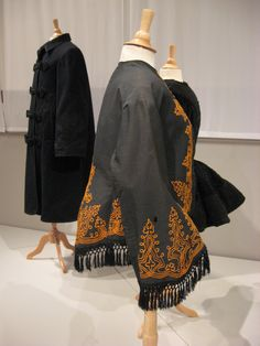 2012-08-25 KSMF -  Black wool jacket trimmed with gold braid, circa 1862.