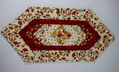 Fall Autumn Quilted Table Topper Candle Mat by ForgetMeNotQuilteds