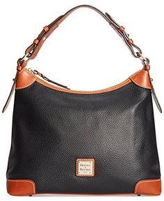 Women's Top-Handle Handbags - Dooney  Bourke Womens Pebble Hobo Black ** You can find more details by visiting the image link.