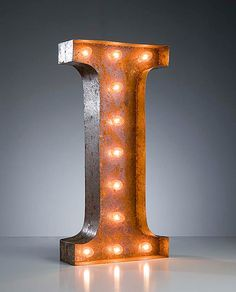 Vintage Marquee Lights Letter I by VintageMarqueeLights on Etsy