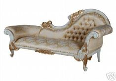 French Louis Style Gold Chaise Longue
