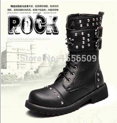 Günstige Special offer    2015 NEW Sreet TOP PUNK Reggae ROCK COOL# BAND GOTH Men male Fashion Motorcycle Army Boot SHOE free shipping, Kaufe Qualität Herren Stiefel direkt vom China-Lieferanten:  welcome to my store Description:Brand new with box.2015 NEW TOP PUNK ROCK Fashion -- TO