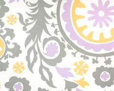 Of course I love grey & yellow and the wisteria is a nice color addition too. Pillow covers?