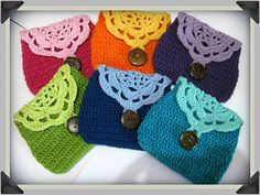 Ravelry: opipipio's colorful little cosmetics pouches