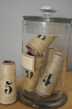 vintage string~cool jar