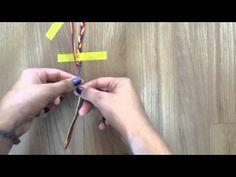 Como fazer pulseira de linha ( pulseira da amizade ) - Mania de Fazer#1