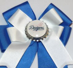Los Angeles Dodgers Dodgers Hair Bow Dodgers Bow by bowsforme, $7.00
