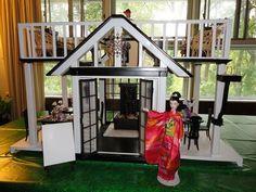 OOAK Japanese Restaurant & Rooftop Sushi Bar Barbie Dream House Furniture DELUXE